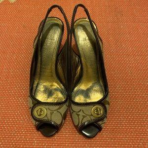 COACH Signature Sling Back Shoe Size 8